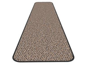 Skid-resistant Carpet Runner - Black Ripple - Many Other Sizes to Choose From