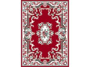 "Home Dynamix Area Rugs: Premium Rug: 7083: Claret Red 3' 7""x5' 3"" Rectangle"