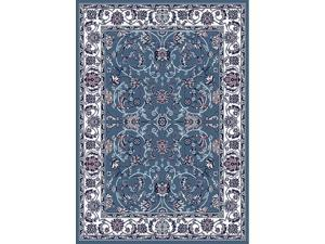 Home Dynamix Area Rugs: Premium Rug: 812-327 Blue Ivory: 5' 2'' x 7' 4'' Rectangle