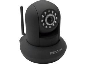Foscam F18910W Wireless/Wired Pan & Tilt 480 TVL Dome-Shaped IP Surveillance Camera w/ IR-Cut Filter (Black)