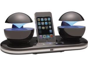Speakal iCrystal Stereo Docking Station with Two Speakers for iPod (Black)
