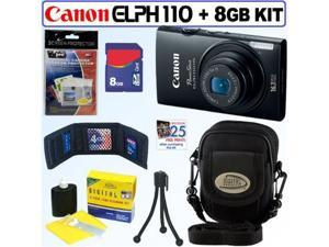 Canon PowerShot ELPH 110 HS 16.1 MP CMOS Digital Camera with 5x Optical Image Stabilized Zoom 24mm Wide-Angle Lens and 1080p ...