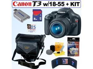 Canon EOS Rebel T3 12.2MP DSLR Camera & 18-55MM IS II Lens 8GB Kit
