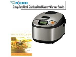 Zojirushi NSLAC05XT 3-cup Rice Black Stainless Steel Cooker/Warmer Kit