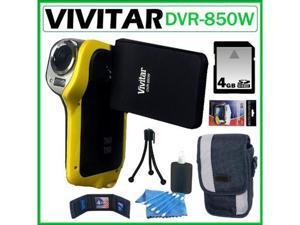 Vivitar DVR-850W Underwater Digital Camcorder Yellow 4GB Kit