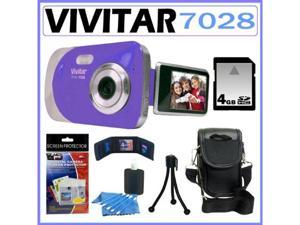Vivitar Vivicam itwist 7028 Digital Camera in Blue 4GB Kit