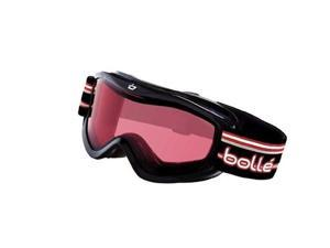 Bolle Amp Youth Ski Goggles - Black Stripes Frame, Vermillon Lens
