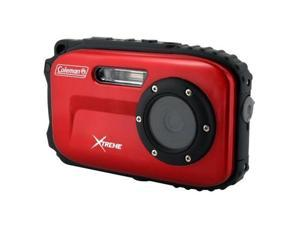 Coleman Xtreme C5WP 12 MP 33ft Waterproof Digital Camera - Red