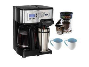 Hamilton Beach 2-Way FlexBrew Coffeemaker 49983 + K-Cup Brewers + Coffee Mug 16 oz 2-Pieces