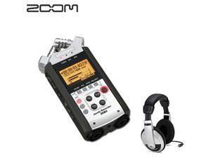 Zoom H4N Handy Handheld Musicians Audio Recorder + Samson SAHP10 HP10 Stereo Headphones