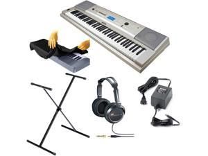 Yamaha YPG235 76 key Portable Grand Graded USB Keyboard Kit with Stand, Power Adapter, Stereo Headphones and Dust Cover