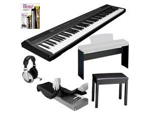 Yamaha p series p105b 88 key digital piano yamaha l85 for Yamaha l85 stand