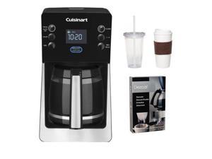 Cuisinart DCC-2800 DCC2800 Perfect Temp 14-Cup Programmable Coffeemaker (Black) w/ Two Pack Coffee Mug & Iced Beverage Cup ...