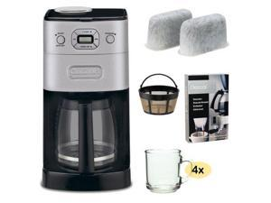 Cuisinart DGB-650BC Grind-and-Brew Thermal 10-Cup Automatic Coffeemaker, Brushed Metal + Replacement Water Filters 2 Pack ...