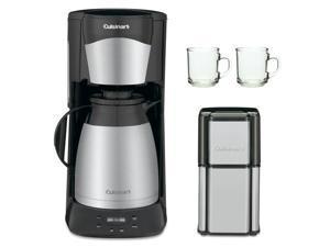 Cuisinart DTC975BKN 12 Cup Programable Thermal Coffeemaker Black with Grind Central Coffee Grinder and 2-Piece 10 oz. ARC ...