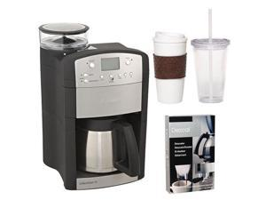 Capresso 465 CoffeeTeam TS 10-Cup Digital Coffeemaker with Conical Burr Grinder and Thermal Carafe + Coffee Mug & Iced Beverage ...