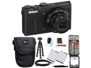Nikon COOLPIX P340 (Black) with 64GB Deluxe Accessory Kit