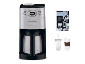 Cuisinart DGB-650BC Grind & Brew Thermal 10-Cup Automatic Coffeemaker Refurbished + 2-Pack Coffee Mug & Iced Beverage Cup ...