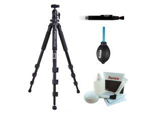 Dolica AX620B100 62-Inch Proline Tripod and Ball Head + Focus Lens Cleaning Pen + Accessory Kit