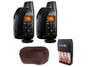 PocketWizard Plus III Transceiver (2 pcs) plus Carrying Case and 4 AA Batteries w/ Charger