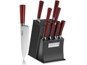 Cuisinart C77RB-11P 11-Piece  Classic Cutlery Set with Block,Red