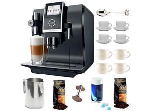 Jura 13752 Impressa Z9 One Touch TFT Coffee Machine + Grand Aroma Whole Bean Coffee (8.8 oz) Swiss Roast Regular + Accessory Kit