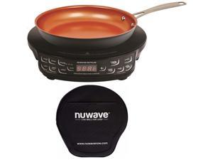 PIC Compact Precision Induction Cooktop w/ 9-inch Hard Anodized Fry Pan & Storage Case Bundle