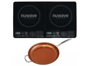 Nuwave Double Precision Induction Cooktop Burner w/ 12'' Ceramic Fry Pan