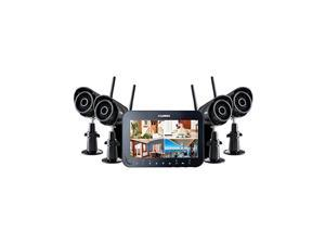 "Lorex 7"" LCD Rechargeable security system-SD DVR- 4 dig indoor/outdoor cameras"