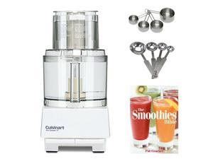 Cuisinart DLC-8SY Pro Custom 11-Cup Food Processor w/ Measuring Spoon Set & Measuring Cup Bundle