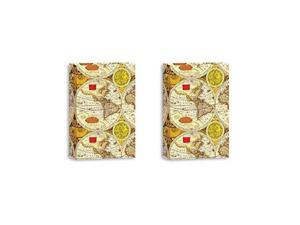 "Pioneer Classic 3 Ring Photo Album, Holds 504 4x6"" Photos, 3 Per Page, Color: Ancient World Map. TWO PACK"