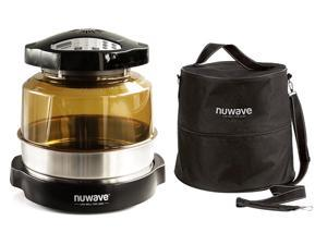 "Nuwave Pro Plus Oven w/ 3"" Extender Ring and Oven Carry Case with Straps"