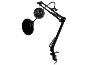 Blue Microphones Snowball ICE Black Mic w Knox Mic Desktop Boom Arm & Pop Filter