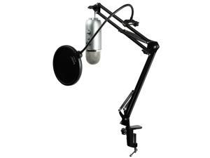 Blue Microphones Yeti Mic w/ Knox Mic Desktop Boom Scissors Arm and Pop Filter