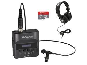 Tascam DR-10L Digital Recorder with Tascam TH-02 Headphones and 32GB SD Card