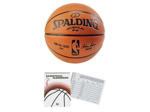 "Spalding 29.5"" NeverFlat Replica Composite Basketball Official Size 729.5""Bundle"