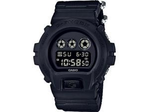 Casio G-shock Digital All Black Military Men's Watch, 200 Meter Water Resistant with Day and Date DW-6900BBN-1