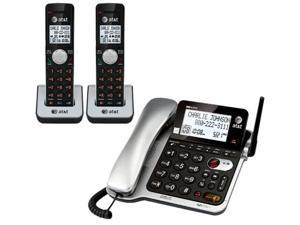AT&T CL84202 DECT 6.0 Digital Expandable 3 Handset Corded / Cordless Phone Combo