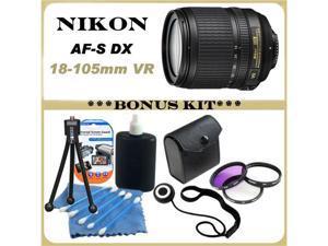 Nikon 18-105mm f/3.5-5.6G ED VR AF-S DX Nikkor Autofocus Lens BUNDLE