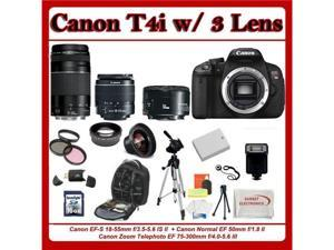Canon EOS Rebel T4i 3 Lens Pro Kit (16PC KIT)