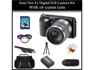 Sony NEX-F3 Digital SLR Camera Kit with 18-55mm Lens + KIT