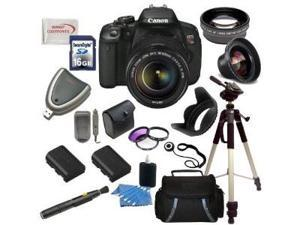 Canon EOS Rebel T4i/700D Digital Camera with EF-S 18-135mm f/3.5-5.6 IS STM Lens + Wide Angle & Telephoto Lens, Filters, ...