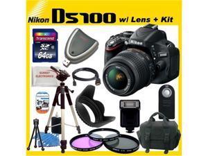 Nikon D5100 16.2MP CMOS Digital SLR Camera w/ 18-55mm Lens + SUPER Accessory KIT!!