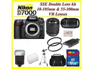 Nikon D7000 3.0-Inch LCD 16.2MP DX-Format CMOS Digital SLR (Black) w/18-105mm + 55-300mm Lens!! ULTIMATE PHOTOGRAPHER KIT!!