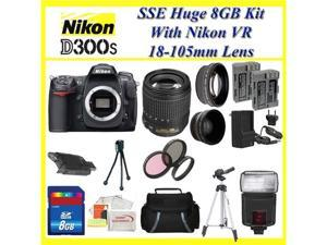 Nikon D300s 12.3mp Digital SLR Camera with 3inch LCD Display (Includes Manufacturer's Supplied Accessories) with 18-105mm ...