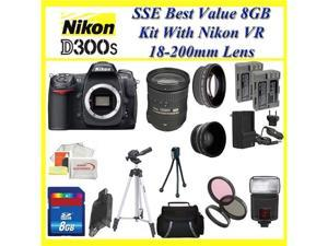 Nikon D300s Digital SLR Camera + Nikon AF Zoom Nikkor 18-200mm f/3.5-5.6G VR Lens + Wide Angle Lens + Huge Lens Accessory ...