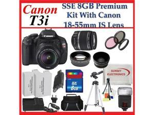 Canon EOS Rebel T3i SLR Digital Camera with Canon 18-55mm Is Lenses with Wide Angle Macro Lens, 2x Telephoto Lens and Accessory ...