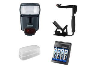 New Canon 430EX II Speedlite TTL Shoe-Mount Flash w/ Flash Bracket & Diffuser Package