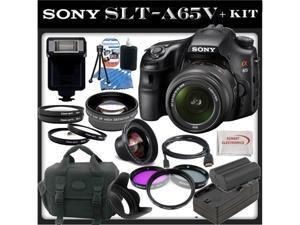 Sony (alpha) SLT-A65 (A65v) - Digital Camera - SLR - 24.3 Mpix - Sony DT 18-55mm lens - SSE Package: 0.45x Wide Angle Lens, ...