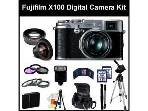 Fujifilm X100 Digital SLR Camera Kit. - 16128244- Also Includes: 0.45X Wide Angle Lens, 2X Telephoto, 3 Piece Filter Kit(UV-CPL-FLD), ...